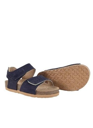 Kids A More Jemma Çift Cırtlı Deri Erkek Çocuk Sandalet  Lacivert